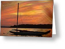 Sailin' On Dewey Greeting Card
