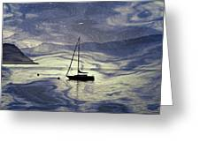 Sailing Boat Greeting Card by Joana Kruse