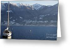 Sailing Boat On A Lake Greeting Card