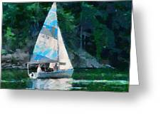 Sailing Cave Run Lake Greeting Card