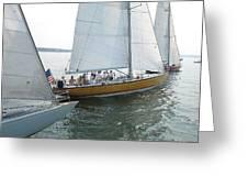 Sailing In Sag Harbor Greeting Card