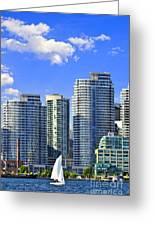 Sailing In Toronto Harbor Greeting Card