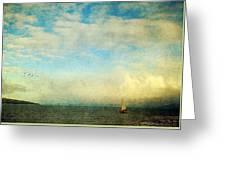 Sailing On The Sea Greeting Card