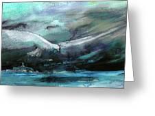 Sailing Over The Sea Greeting Card