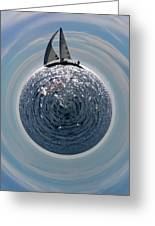 Sailing The World Greeting Card