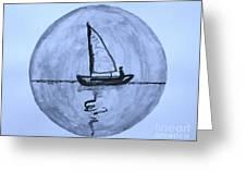 Sailing Thru The Night Greeting Card