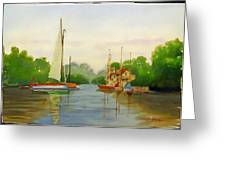Sailing To The Harbour Greeting Card