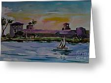 Sailing To The Spanish Fort Greeting Card