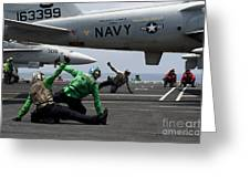 Sailors Give Launch Approval For An Greeting Card