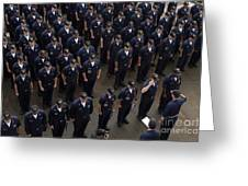 Sailors Stand At Attention During An Greeting Card