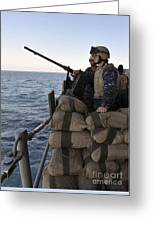 Sailors Stand Small Caliber Attack Team Greeting Card