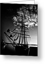 Sails In The Sunset Greeting Card by Hakon Soreide