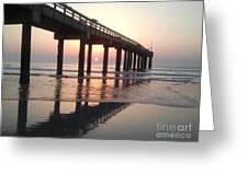 Saint Augustine Beach Sunrise Greeting Card