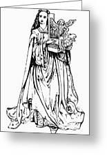 Saint Cecilia Greeting Card by Granger