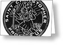 Saint Christopher Medal Greeting Card