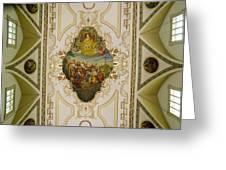Saint Louis Cathedral Mural Greeting Card