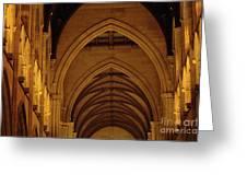Saint Marys Church Interior 2 Greeting Card