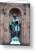 Saint Peter Statue - Historic Philadelphia Basilica Greeting Card