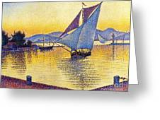 Saint Tropez At Sunset Greeting Card
