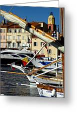 Saint Tropez Harbor Greeting Card
