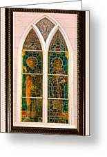 Saints In The Window Greeting Card