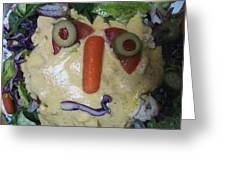 Salad Man Is Confused Greeting Card