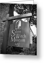 Salem Witch Museum Greeting Card