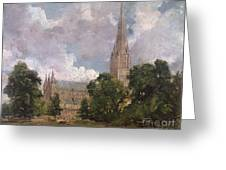 Salisbury Cathedral From The South West Greeting Card