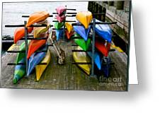 Salma Kayaks Greeting Card