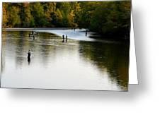 Salmon Hunting Skok Style Greeting Card