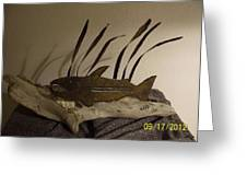 Salmon On Driftwood Greeting Card