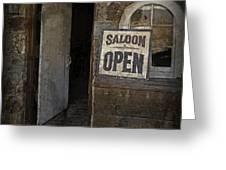Saloon Open Greeting Card