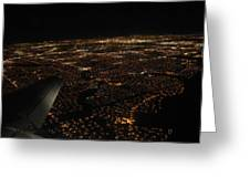 Salt Lake City At Night Greeting Card