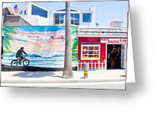 Salt Water Taffy Panorama Balboa California Greeting Card