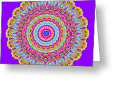 Saltwater Taffy Mandala Greeting Card