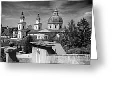Salzburg Black And White Austria Europe Greeting Card