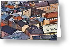 Salzburg's Roofs Austria Europe Greeting Card