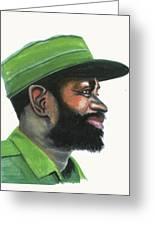 Samora Moises Machel Greeting Card