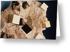 Sample Of Pyrite Greeting Card