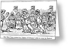 Samuel L. Clemens Cartoon Greeting Card