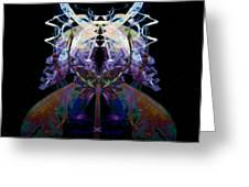 Samurai Bug Plant Greeting Card