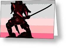 Samurai Sunrise Greeting Card