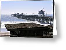 San Clemente Pier California Greeting Card