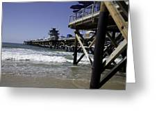 San Clemente Pier Greeting Card by Joenne Hartley