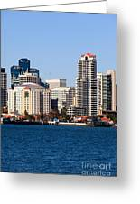 San Diego Buildings Photo Greeting Card by Paul Velgos