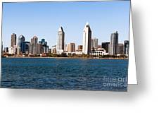 San Diego City Skyline Greeting Card