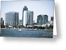 San Diego Downtown Waterfront Buildings Greeting Card