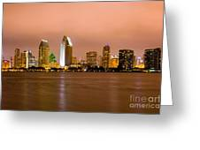 San Diego Skyline At Night Greeting Card by Paul Velgos