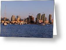San Diego Skyline Pano Greeting Card