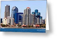 San Diego Skyline Photo Greeting Card by Paul Velgos